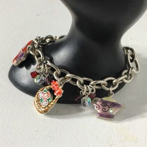 Jewelry - ⏰ Red Hats Signed Charm Bracelet